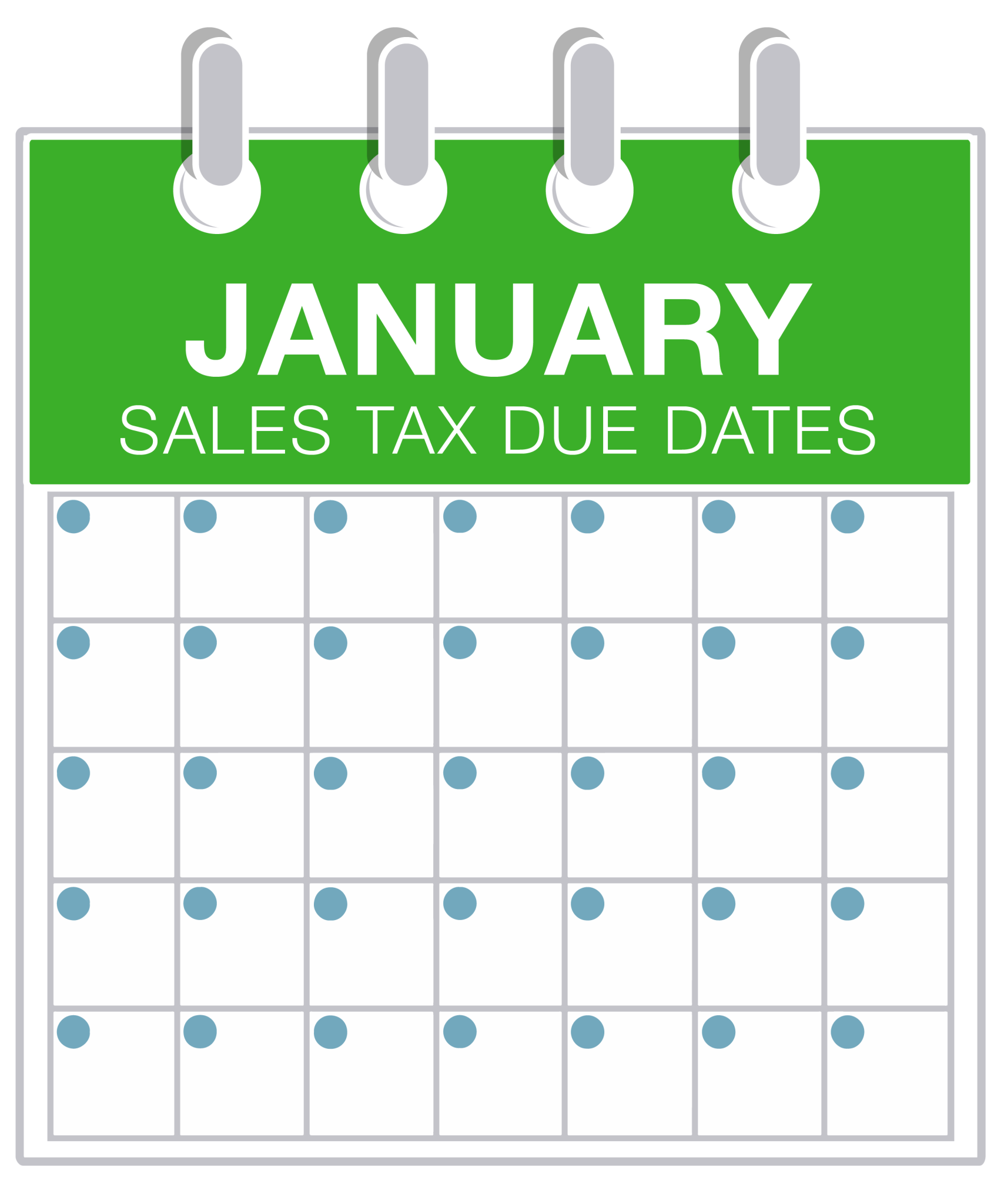 The Perfect Storm January Sales Tax Due Dates