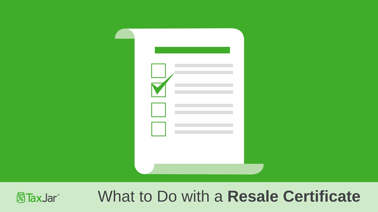 What To Do When You Receive a Resale Certificate
