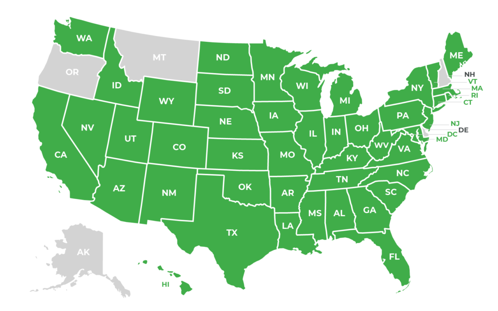 US States with sales tax